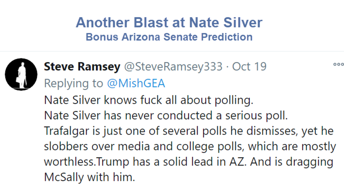 Another Blast at Nate Silver