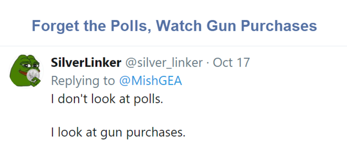 Forget the Polls, Watch Gun Purchases