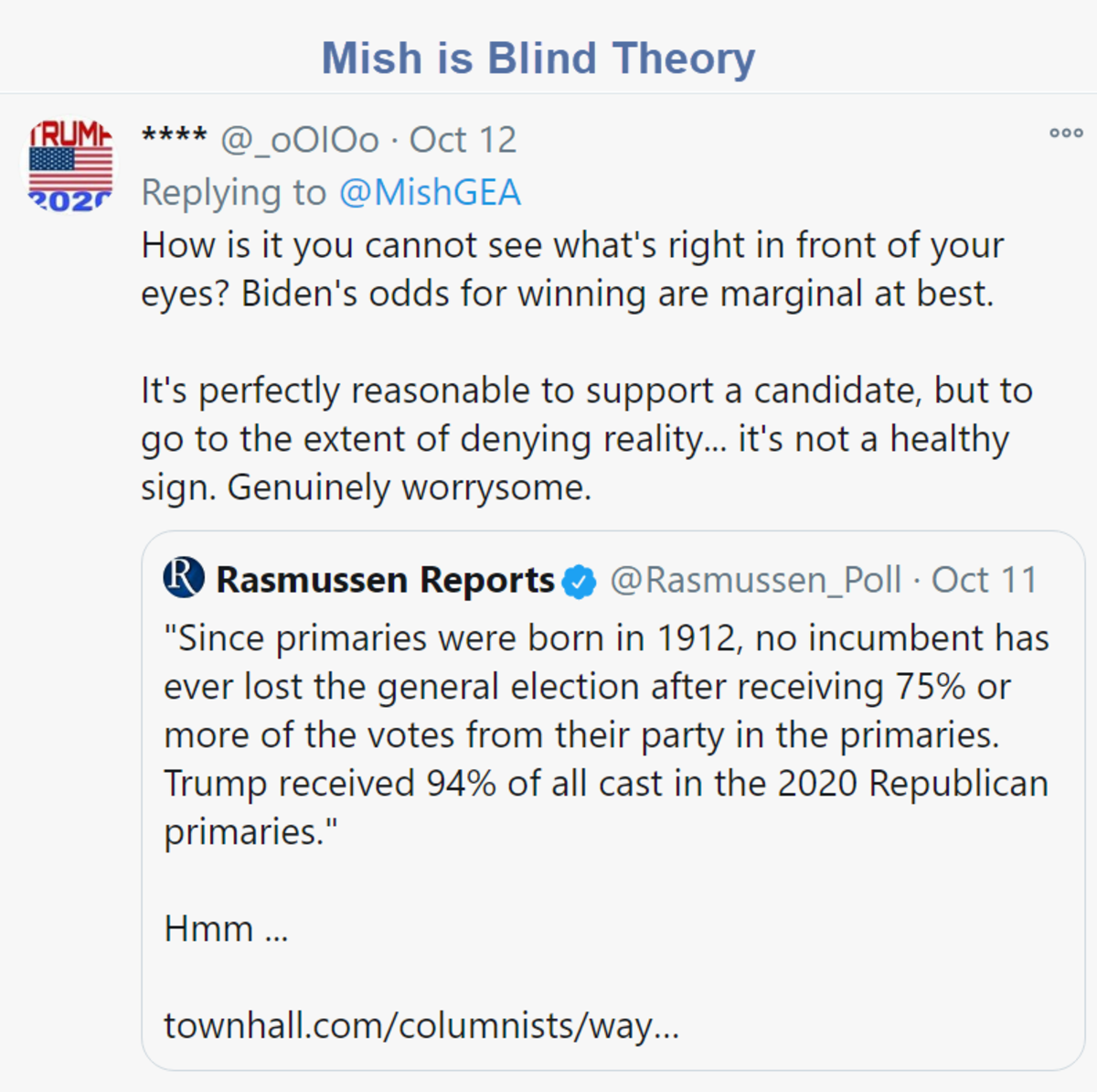Mish is Blind Theory