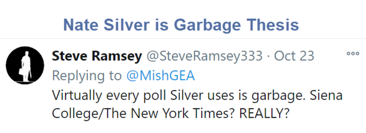 Nate Silver is Garbage Thesis