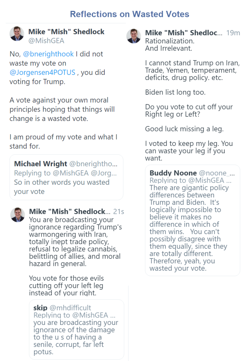 Reflections on Wasted Votes