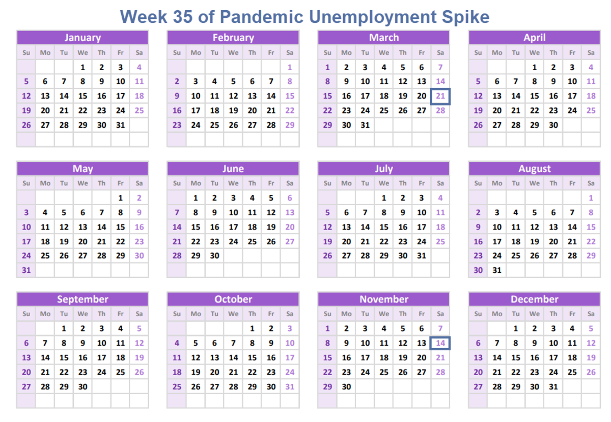 Week 35 of Pandemic Unemployment Spike