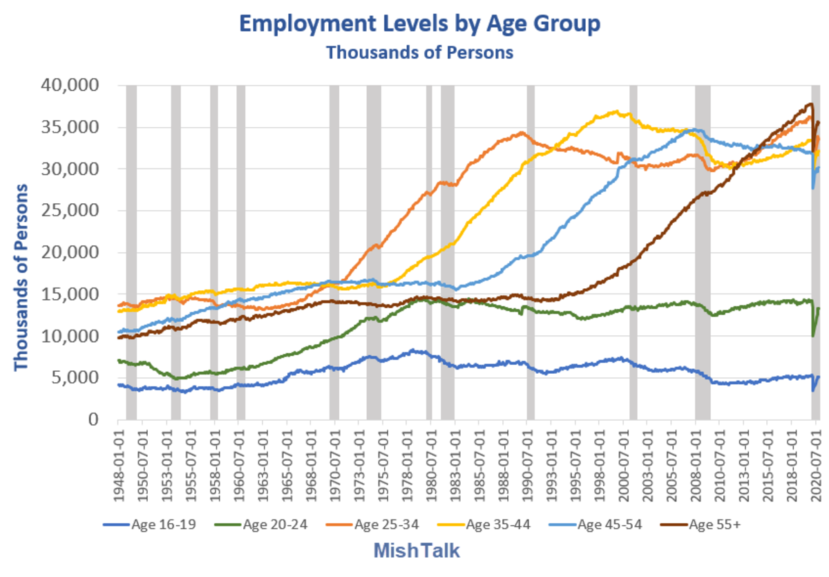 Employment Levels by Age Group 2020-11A