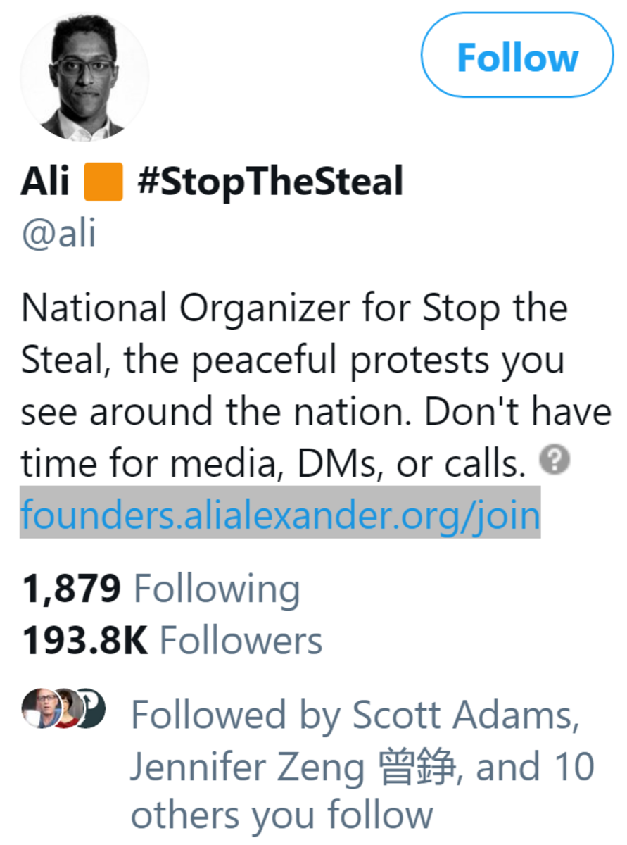 Ali #stop the steal