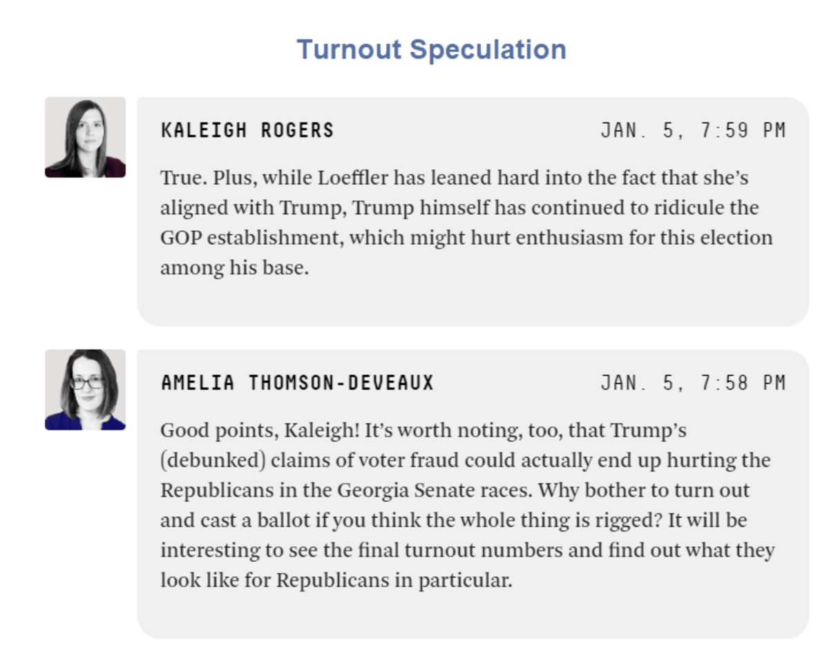 Turnout Speculation