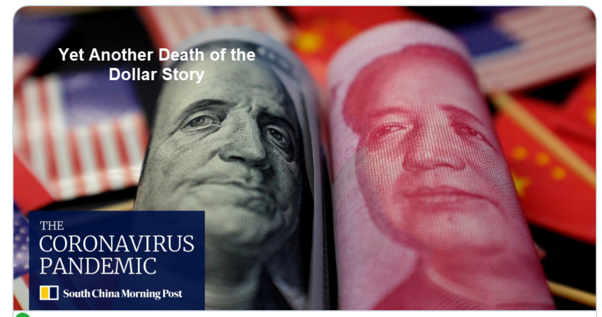 Yet Another Death of the Dollar Story