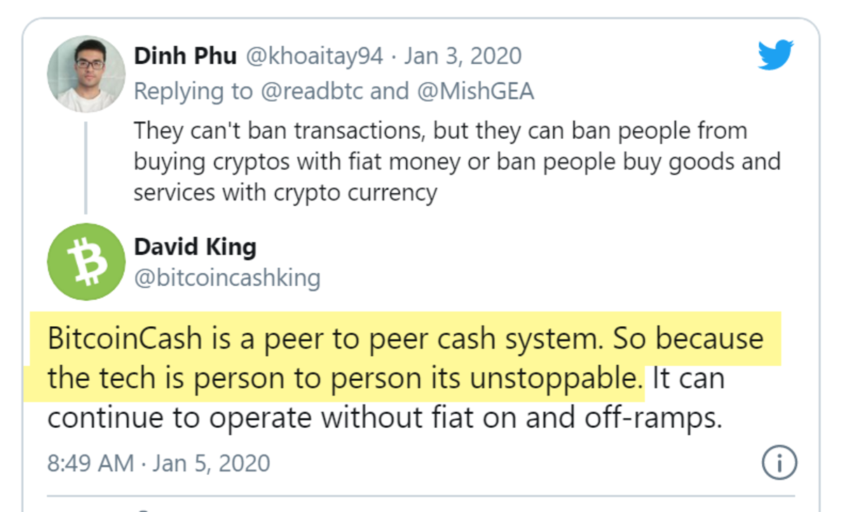 Bitcoin Cash is a peer to peer cash System