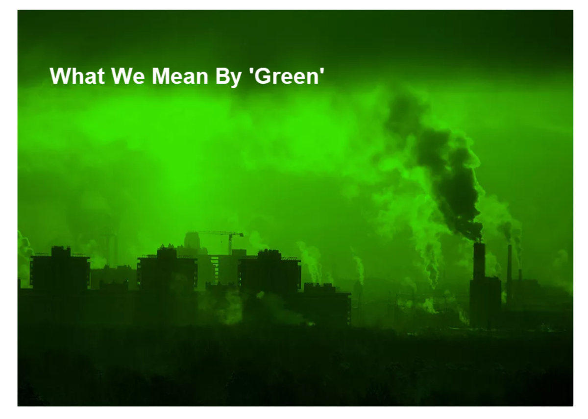 What We Mean By 'Green'