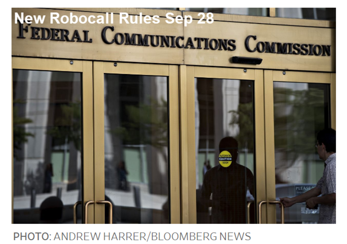 New Robocall Rules Sep 28