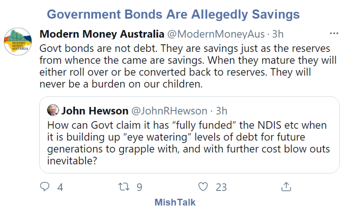 Government Bonds Are Allegedly Savings