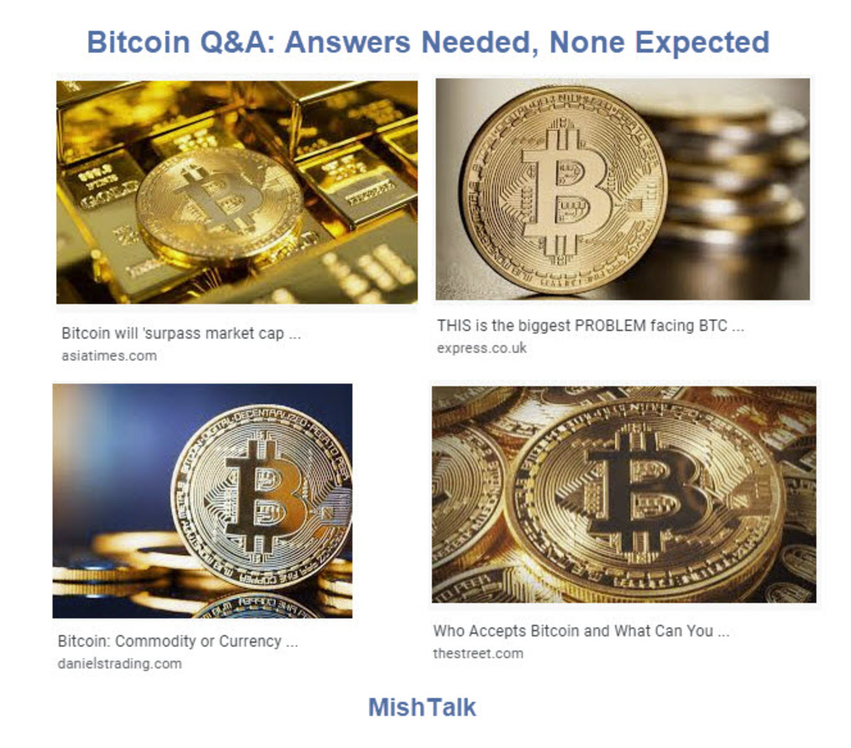Bitcoin Q&A Answers Needed, None Expected