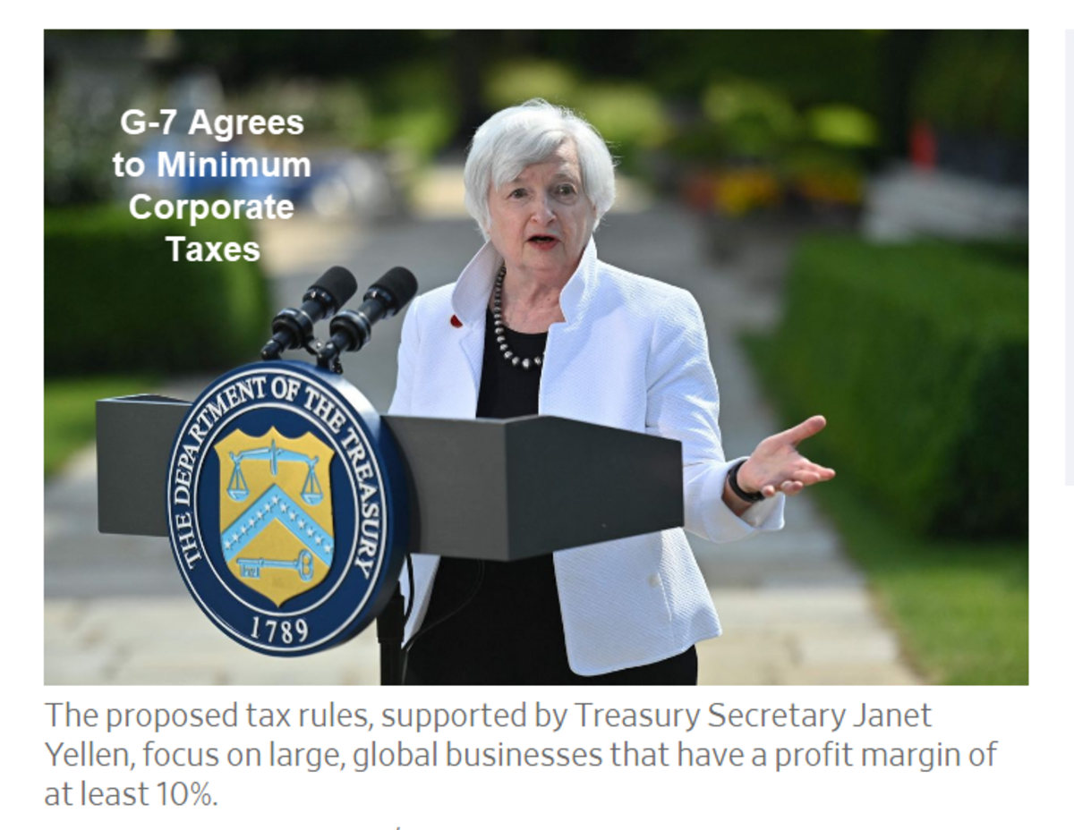 G-7 Agrees to Minimum Corporate Taxes