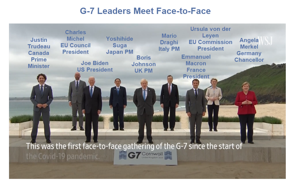 G-7 Leaders Meet Face-to-Face
