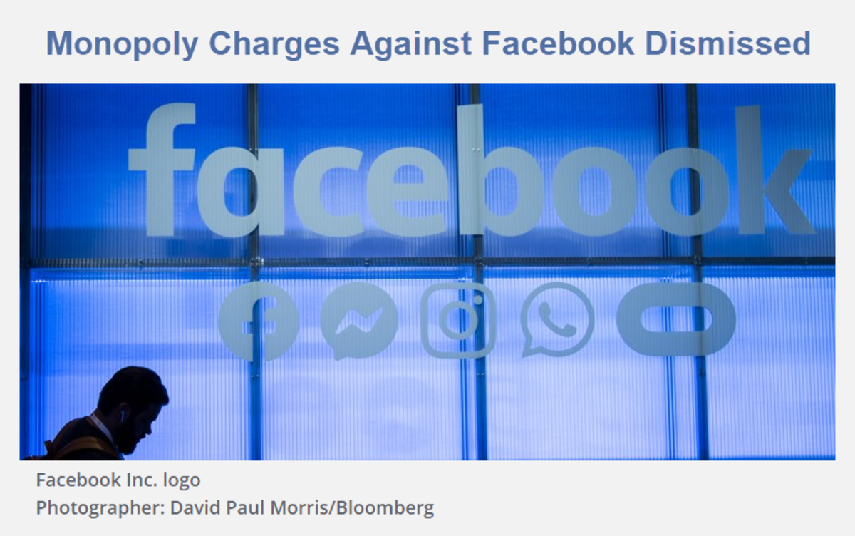Monopoly Charges Against Facebook Dismissed