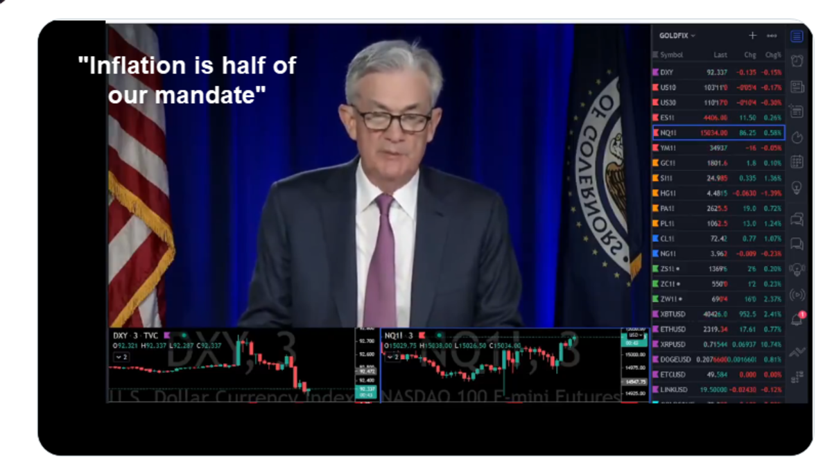 Inflation is half of our Mandate Powell