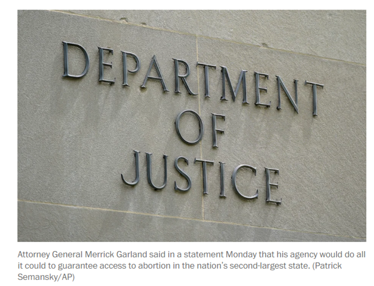 Department of Justice - Abortion